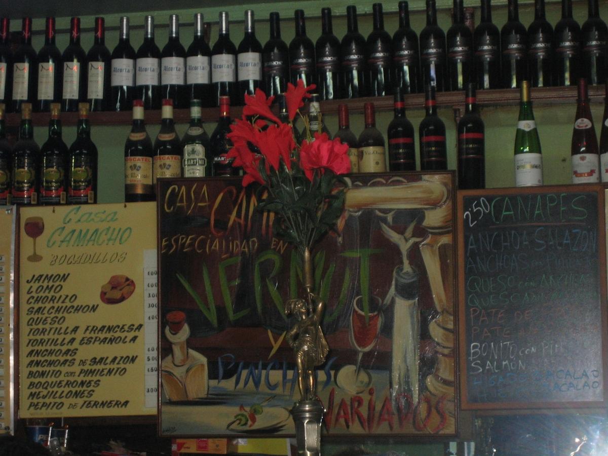 Taberna Casa Camacho. Visitar Madrid