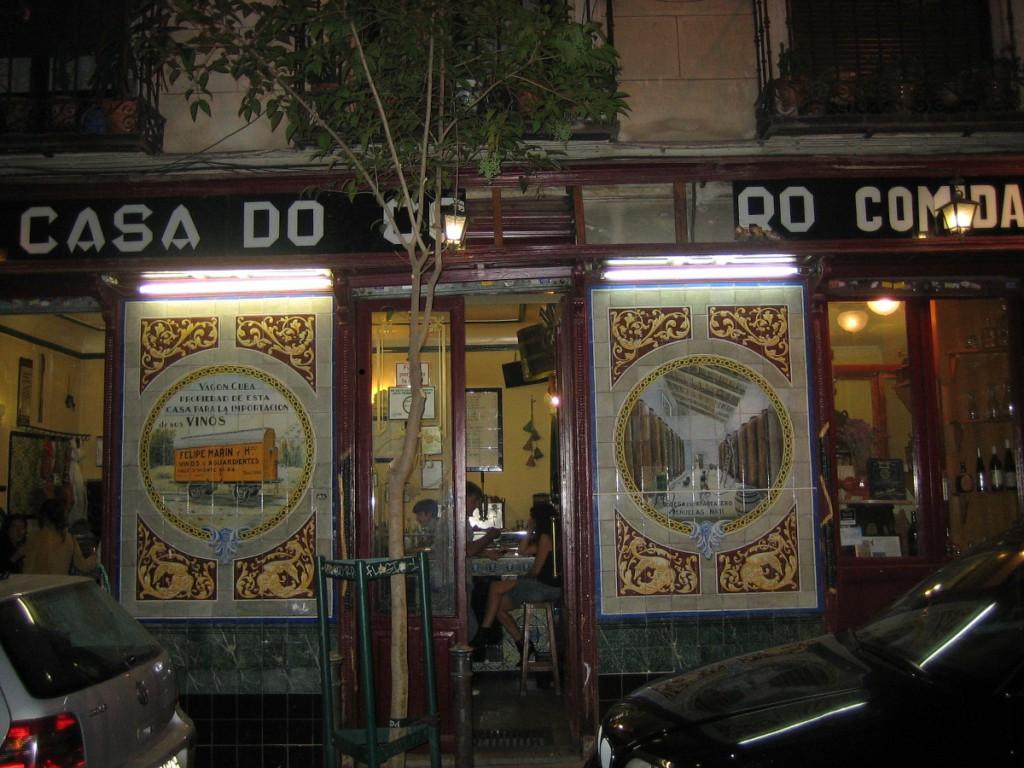 Taberna O Compañeiro. Visitar Madrid
