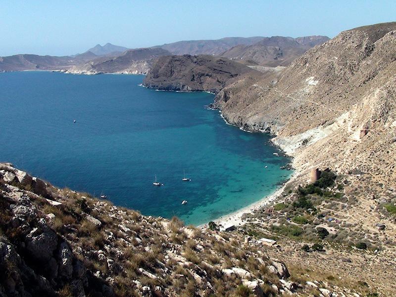 Cala San Pedro en Agua Amarga. Almería