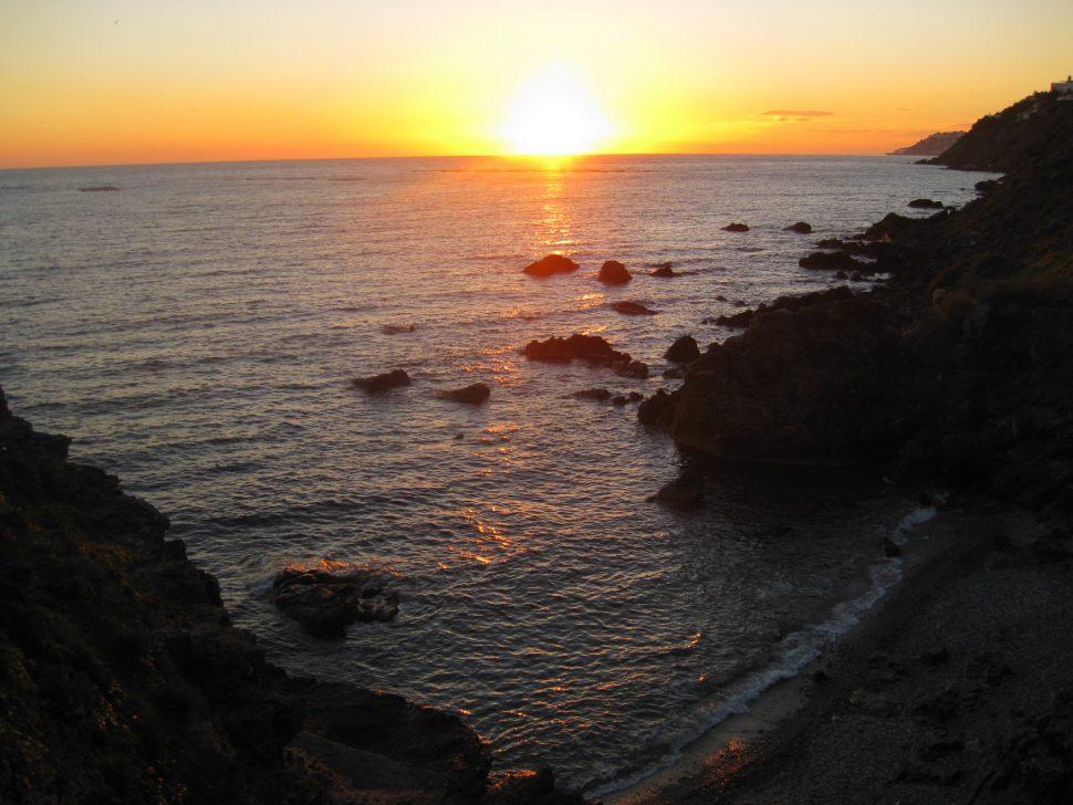 Puesta de Sol en la Caleta en Salobreña. Turismo Granada