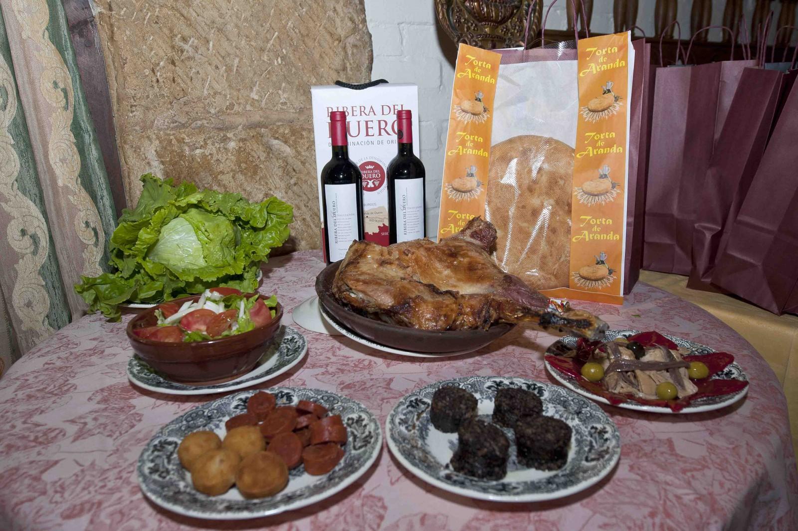 Menú Jornadas del Lechazo. Imagen de Miguel Ángel Muñoz Romero