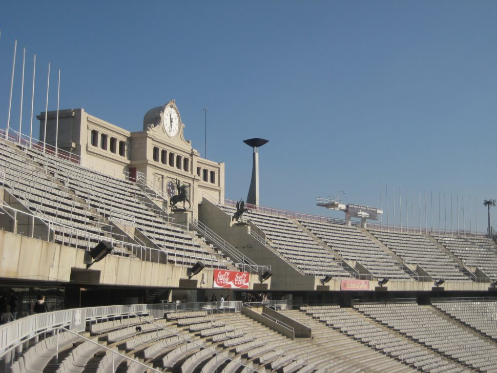 Estadio Olímpico en Montjuic. Turismo Barcelona