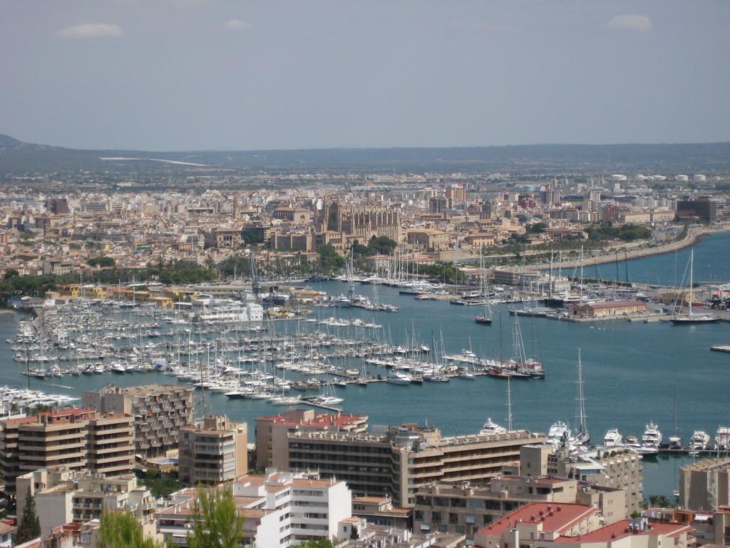 Vista panorámica desde el Castillo de Bellver. Turismo Palma de Mallorca