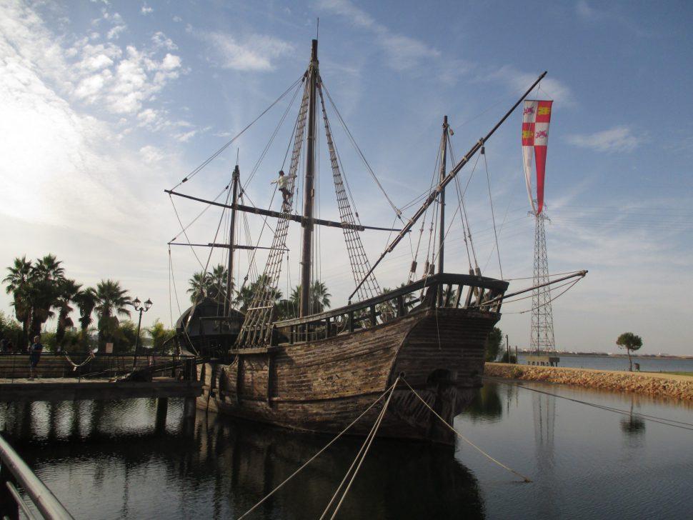 Muelle de las Carabelas. Turismo Huelva