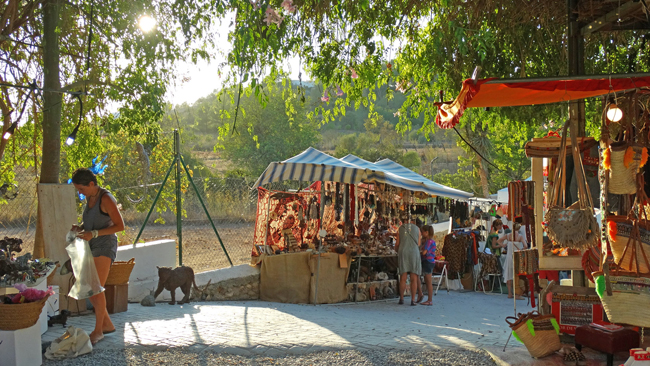 Mercadillo Las Dalias en Sant Jordi Ibiza. Viajar a Ibiza