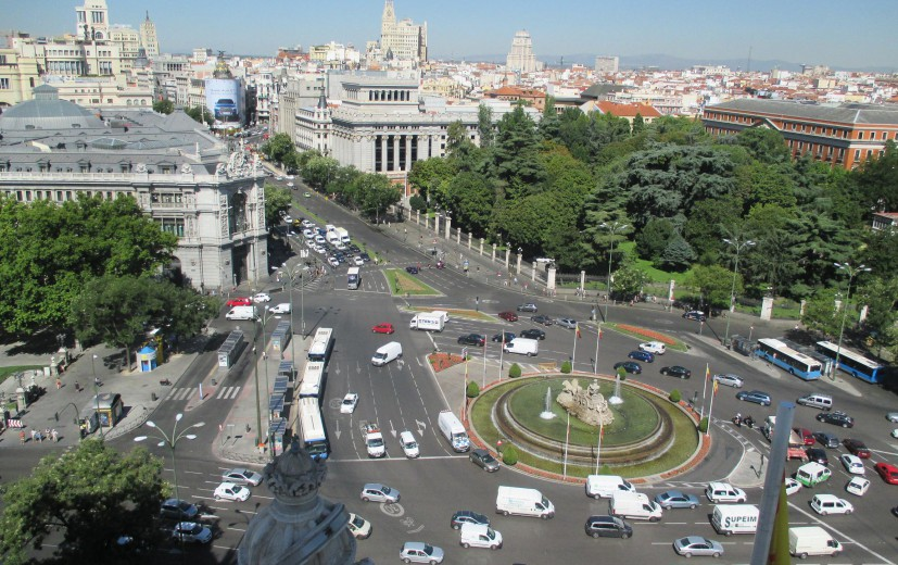 Vistas desde Palacio de Cibeles Madrid