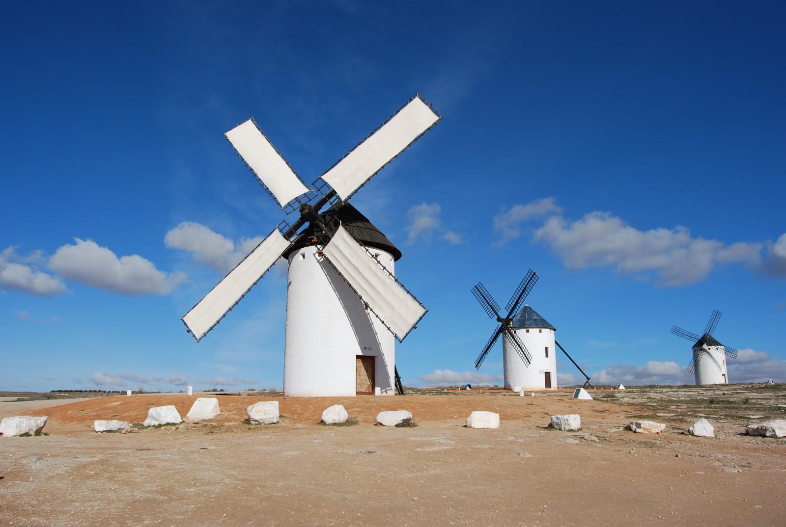 Molinos de viento de Campo de Criptana - Viajar a Castilla la Mancha con niños