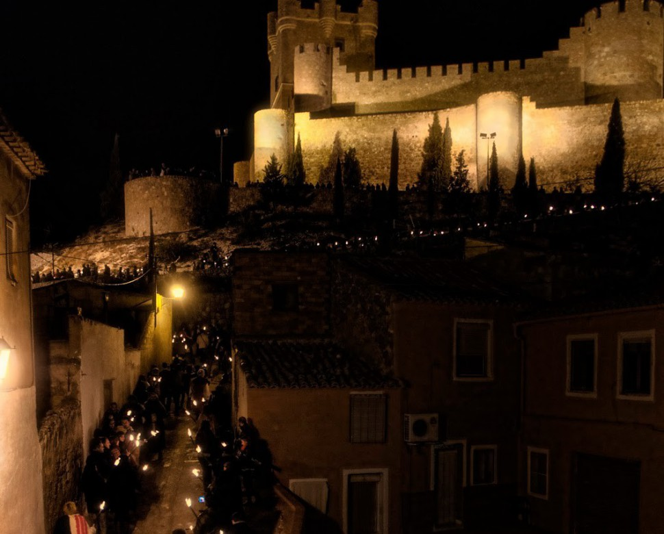Procesion Antorchas Fiestas del Medievo. Villena