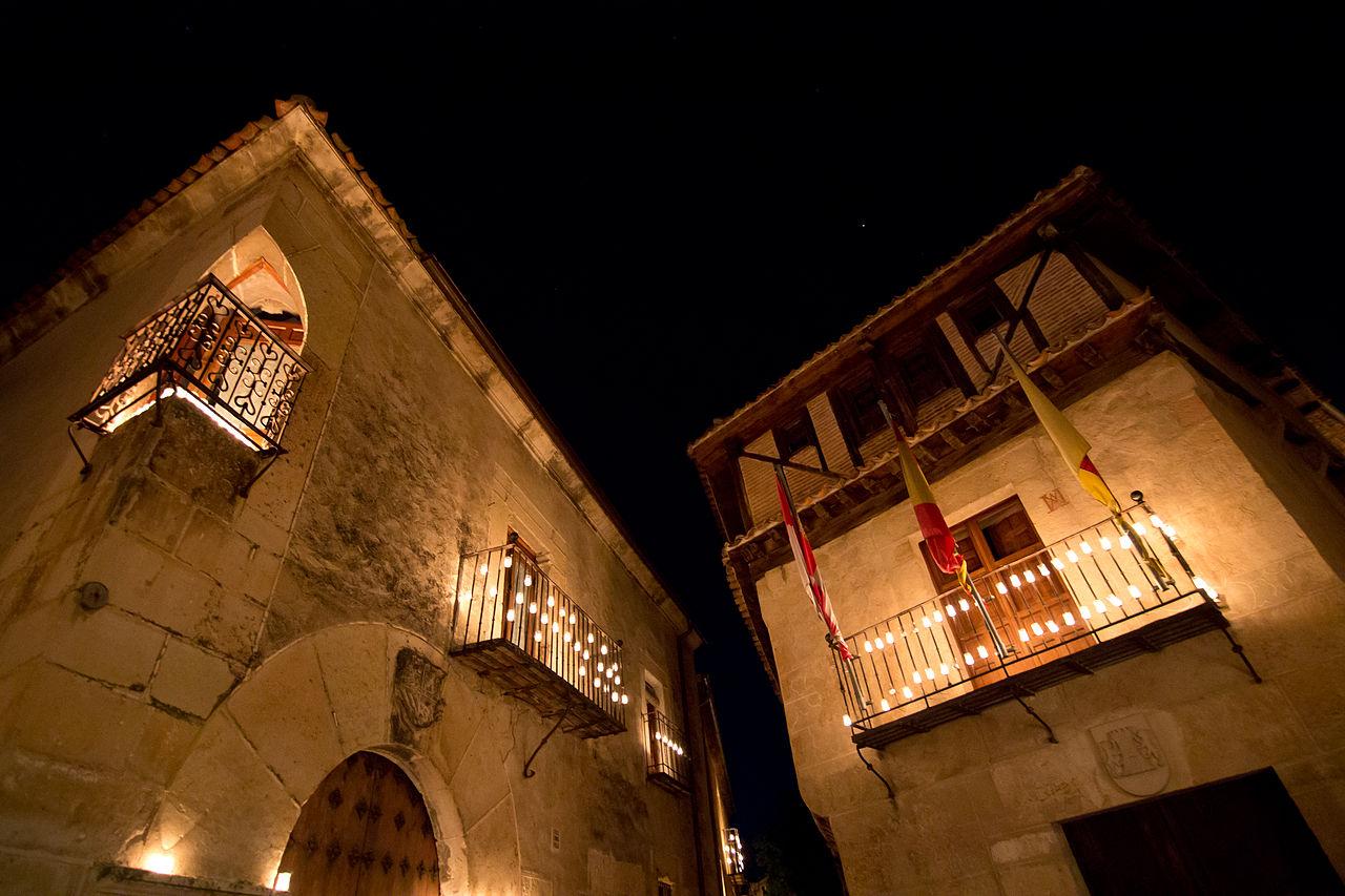 Concierto de las velas en Pedraza. Segovia