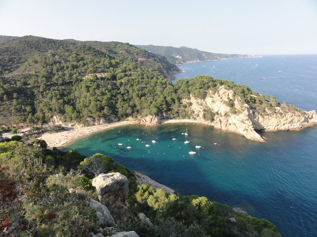 Cala Giverola en Tossa de Mar