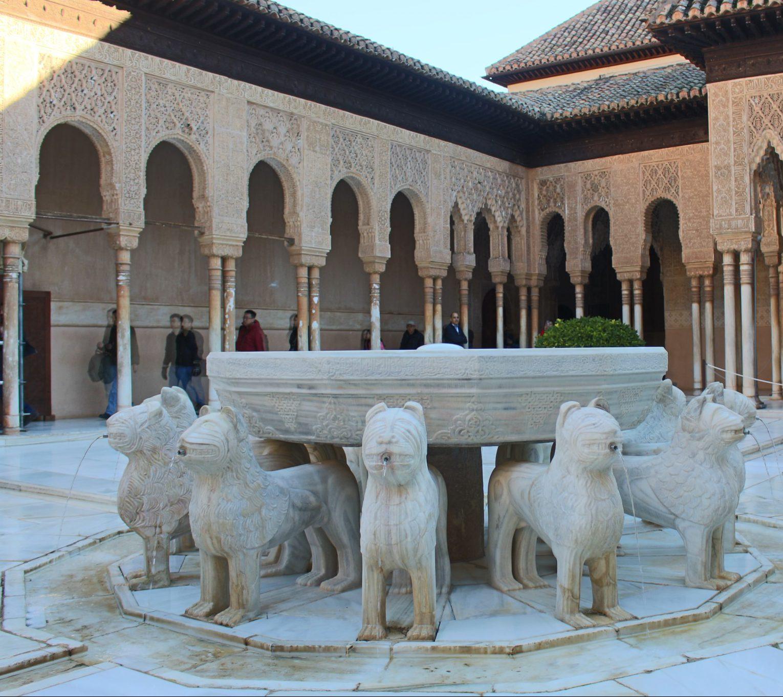 Patio de los Leones - Visitar Alhambra - Visitar Granada